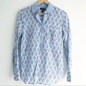 J. Crew Button-up Patterned Top
